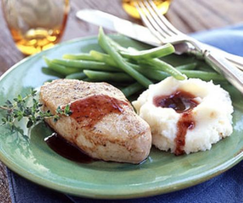 Pork Chops with Port Wine Sauce