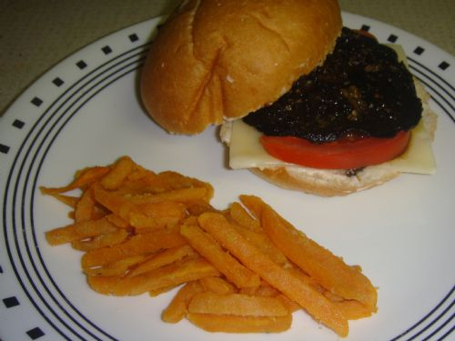 Portobello Burger (Balsamic Vinegar Marinade)