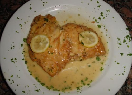 SBARRO CHICKEN FRANCESE WITH LEMON BUTTER