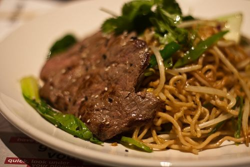 Asian Teriyaki Steak with Noodles