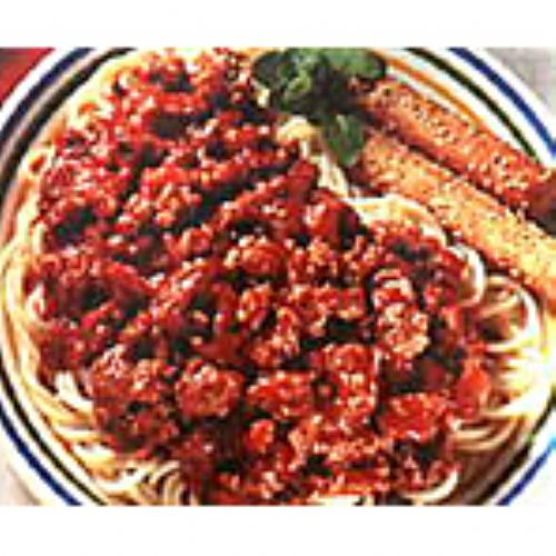 Homemade Meat Sauce with Spaghetti