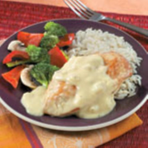 Creamy Dijon Chicken with Rice