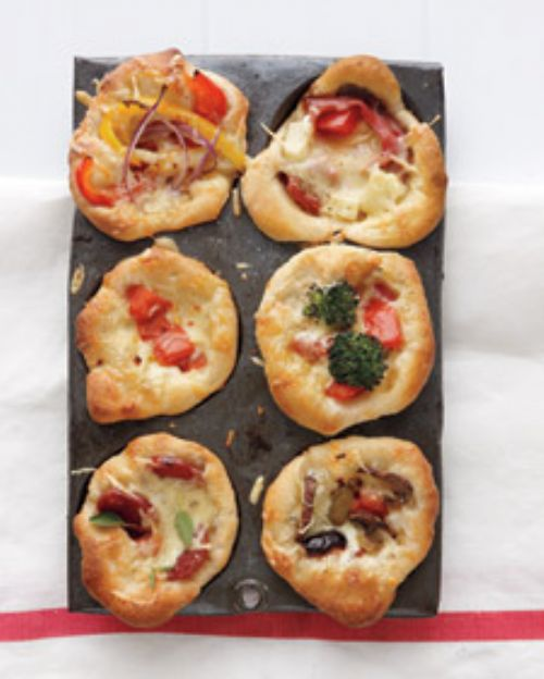 Mini Deep-Dish Pizzas