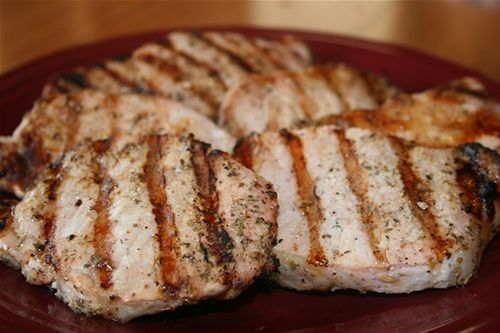 Grilled Citrus Rum Pork Chops