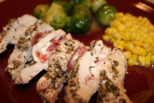 Feta and Bacon Stuffed Chicken Breasts