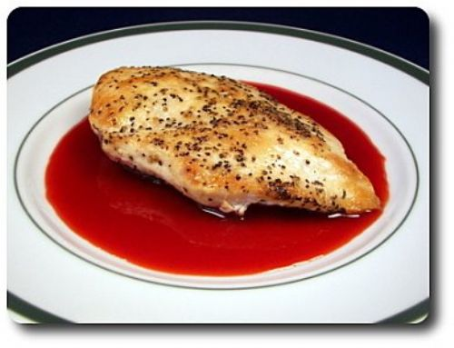Gorgonzola-Stuffed Chicken Breasts with Strawberry