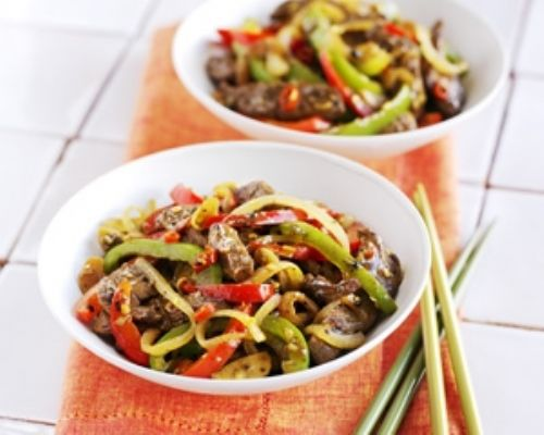Spiced Venison and Black Pepper Stir-Fry