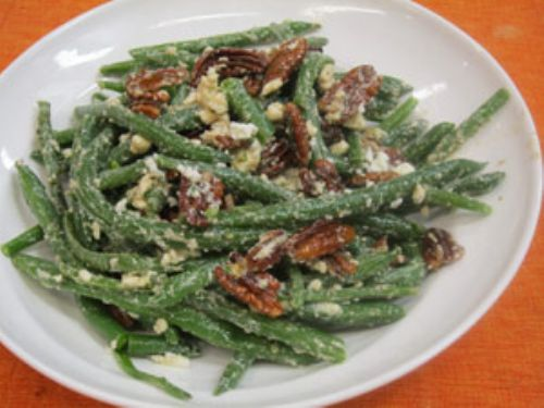 Chilled hericot verts with feta