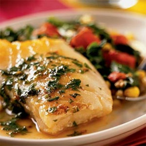 Sea Bass With Lemon Butter Sauce Recipe