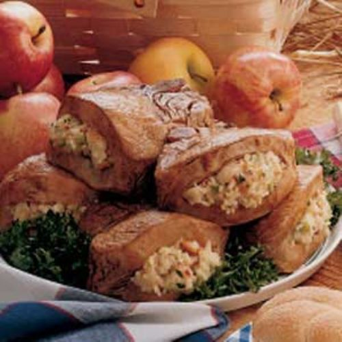 Apple stuffed pork loin chops Recipe