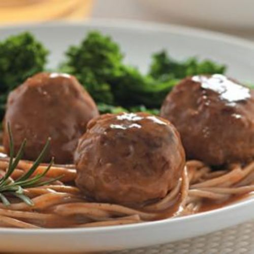 Lemon Rosemary Turkey Meatballs & Sauce