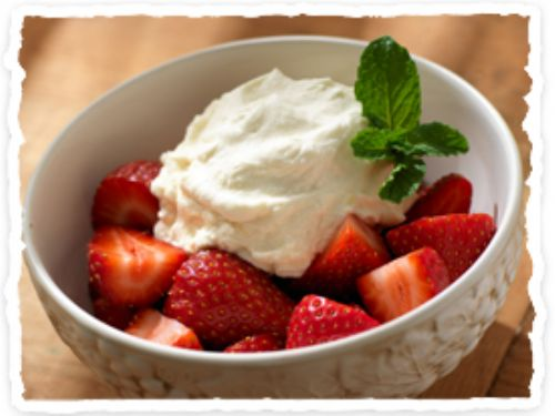Olive Garden Strawberries Romanoff