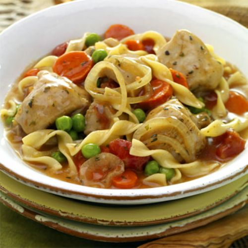 Slow Cooked Italian Chicken with Noodles