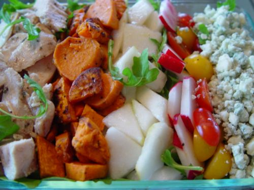 Chicken Autumnal Salad w/Sweet Potatoes
