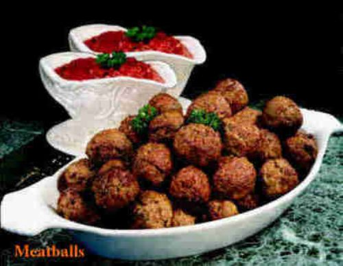 Spicy Meatballs with Sesame Dip