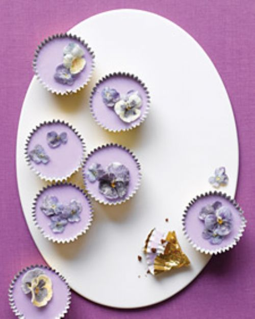 Lavender Spring Cupcakes with Sugared Flowers