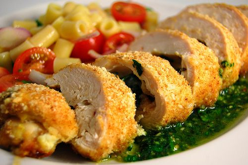 Fontina and Herb Stuffed Chicken