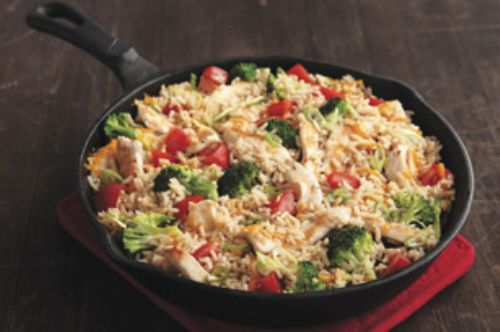 Cheddar Chicken and Rice Skillet