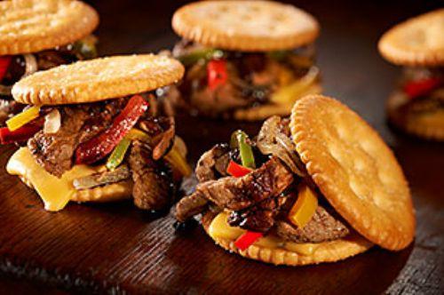 Guy Fieri S Ritz Cheese Steak Sliders Recipe