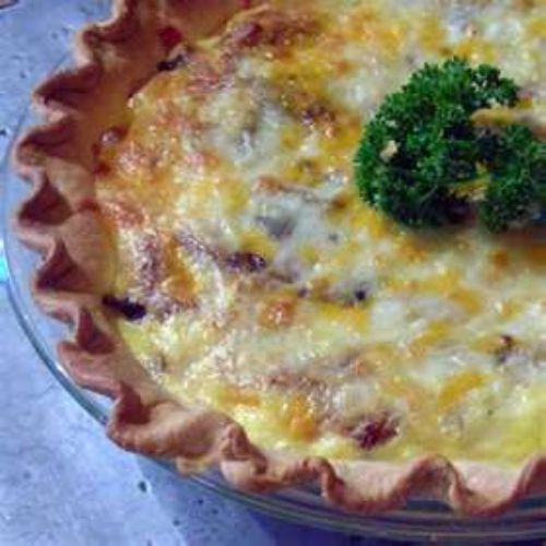 Cheese, Mushroom 'n Bacon Pie