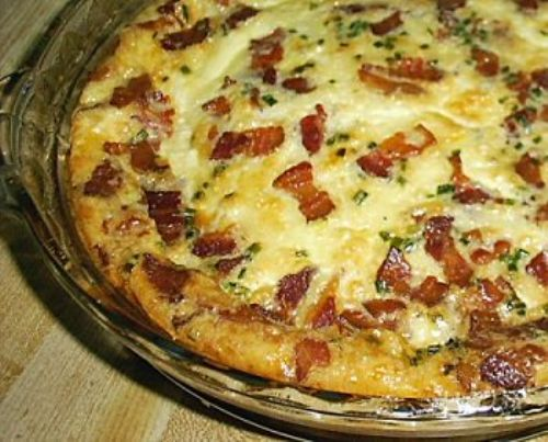 LOW CARB BACON & SWISS QUICHE