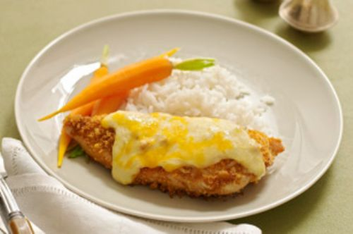 Crisp and Creamy Baked Chicken