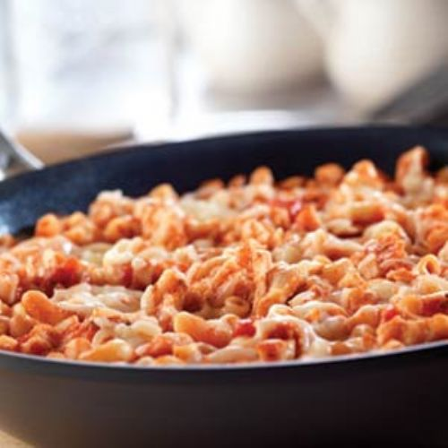 Skillet Chicken & Macaroni Parmesan Recipe