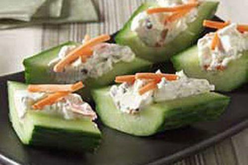 Cream Cheese N Herb Cucumber Bites Recipe