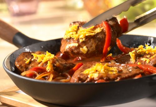 Sirloin, Pepper & Onion Skillet