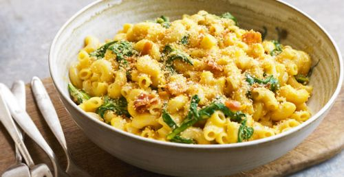 Spinach & Bacon Mac & Cheese