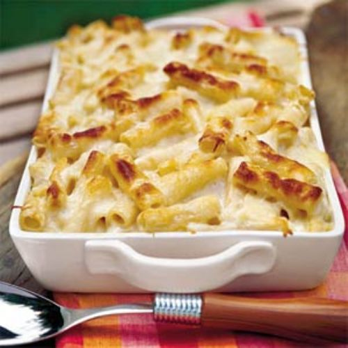 Three-Cheese Pasta Bake