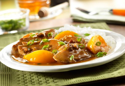 Pork with Peaches & Pecans