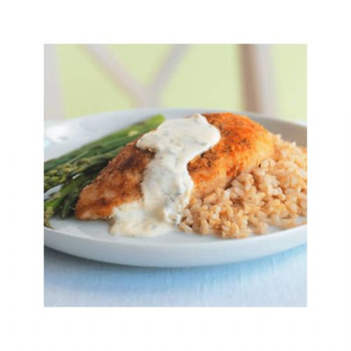 Parmesan Crusted Chicken with Cream Sauce