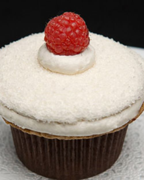 Meyer Lemon Raspberry Cupcake