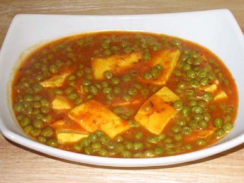 Mattar Paneer (Green Peas with Cheese)