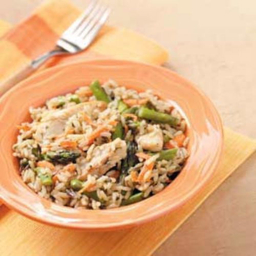 Chicken Asparagus Rice Dish